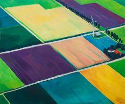 polderland schilderij ulfert molenhuis
