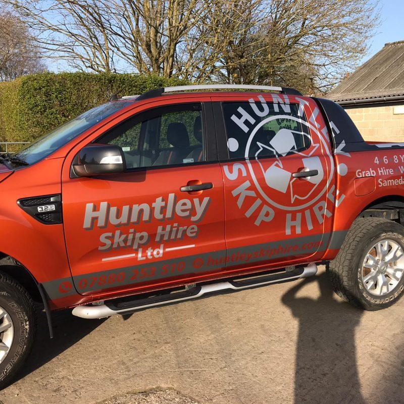 Huntley Skip Hire into business