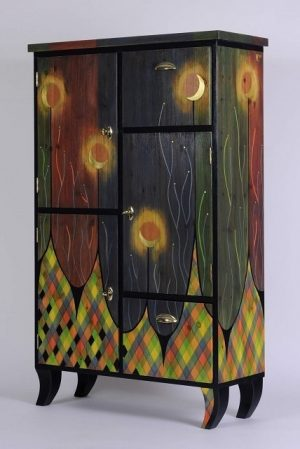decorative cabinet -Moonflower