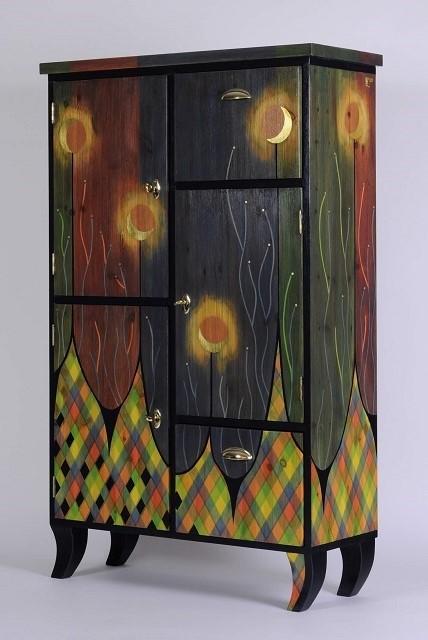 decorative cabinet -Moonflower