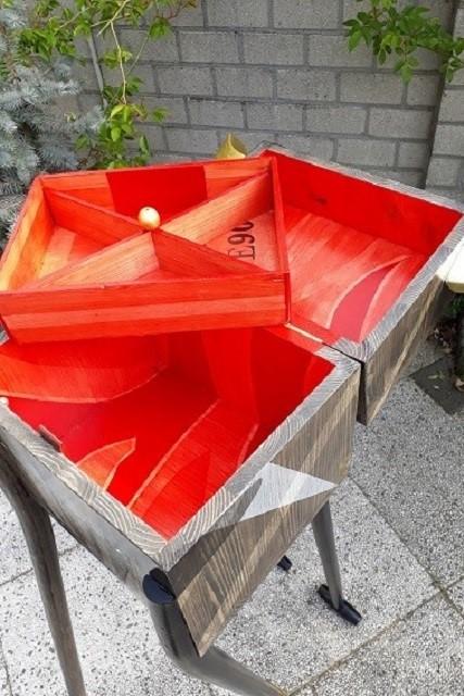 houten kist met deksel