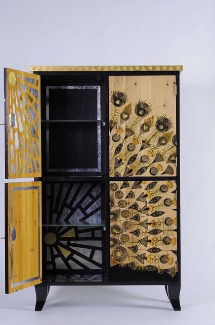 black accent cabinet