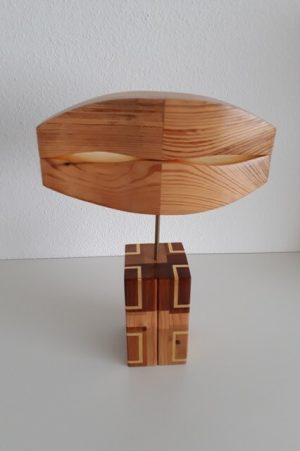 wood abstract sculpture