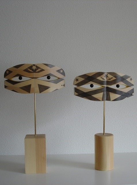 houten decoratie-Tattoo