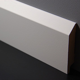 Muurplint Klassiek Nieuw Wit MDF 2.4m