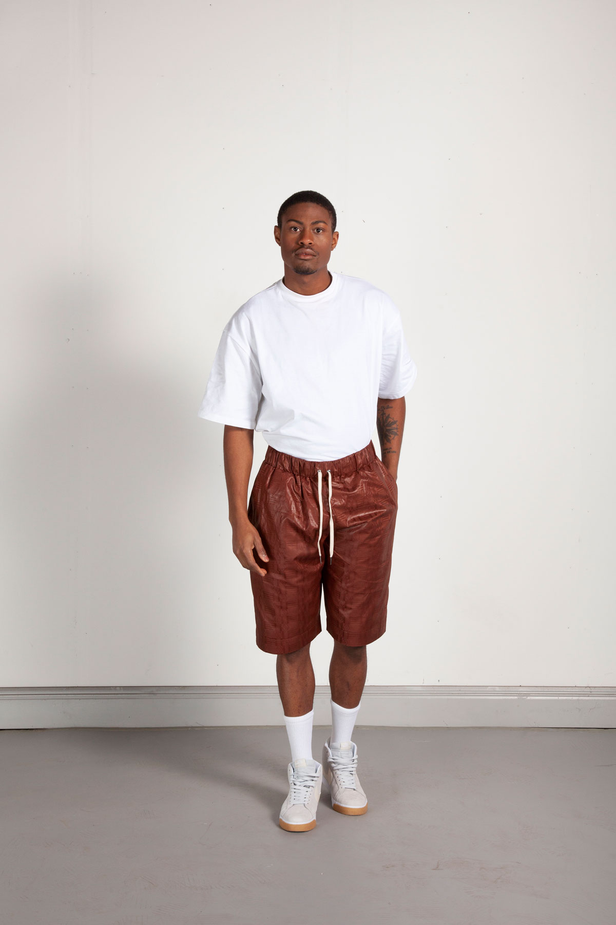 Bazin cotton shorts