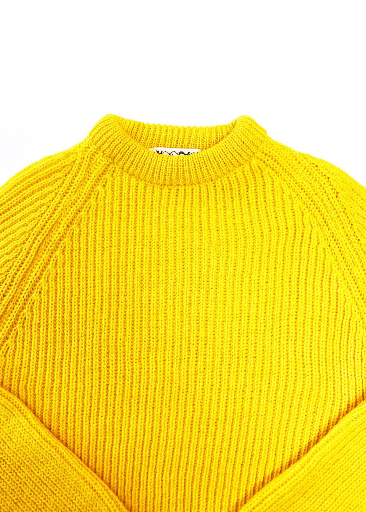Yellow Sweater Round Neck