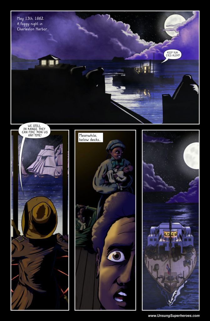 The finished first page of the Robert Smalls Graphic Novel