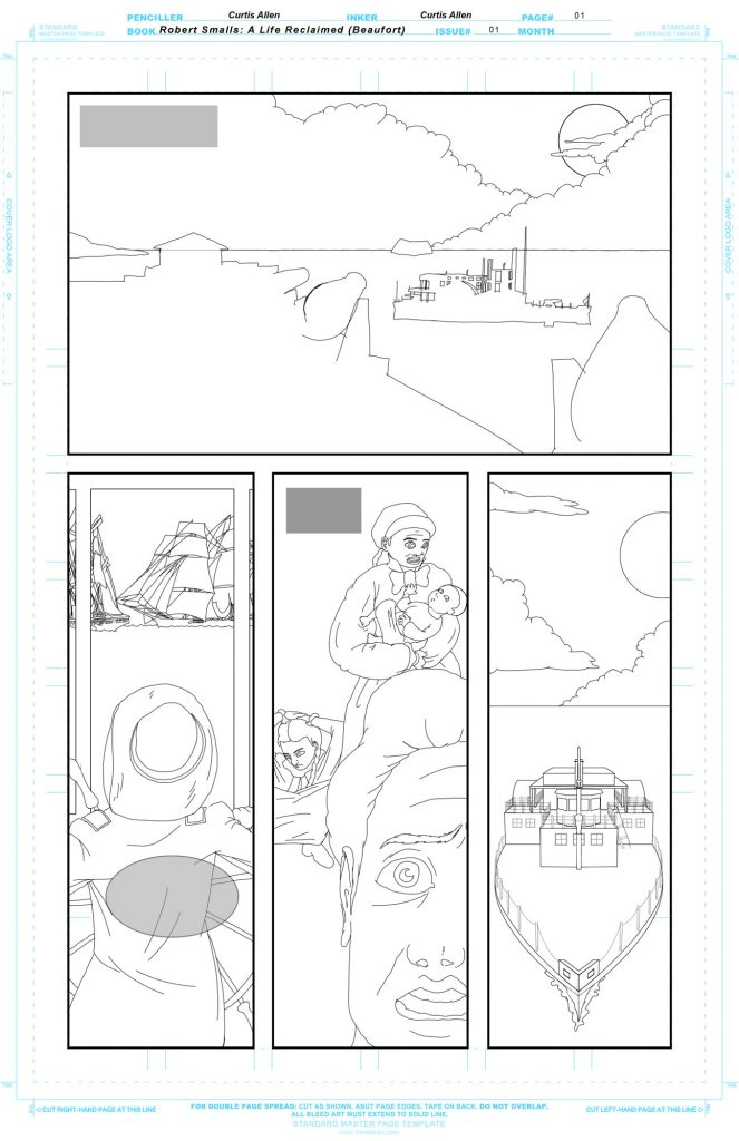 Refined lineart for the first page