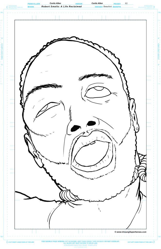 A dead hanged black man's face work in progress