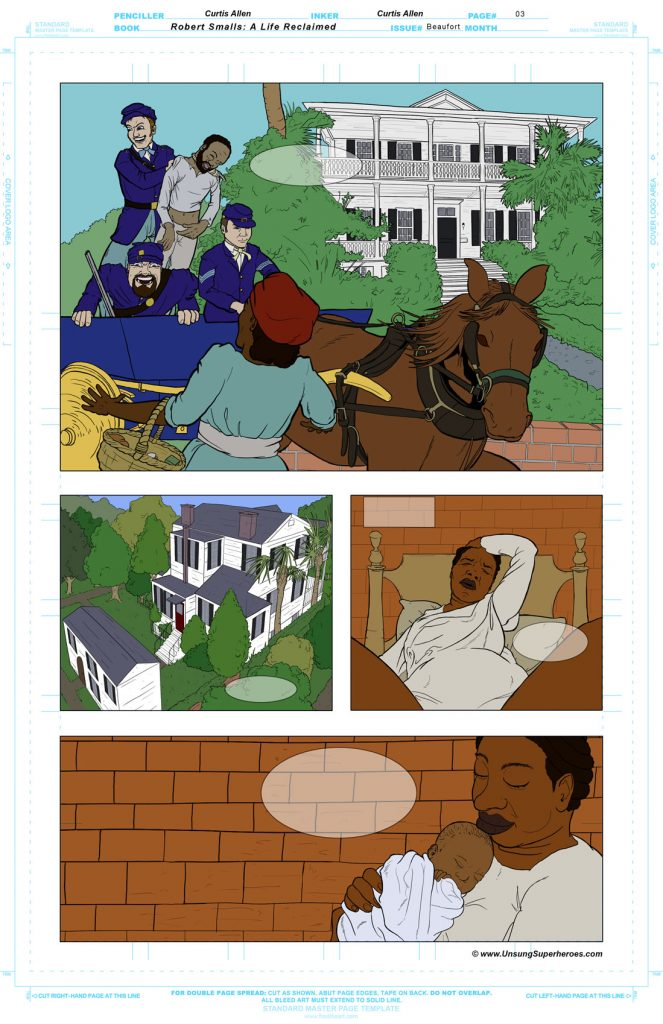 Robert Smalls Graphic Novel. Page 4 - Flats
