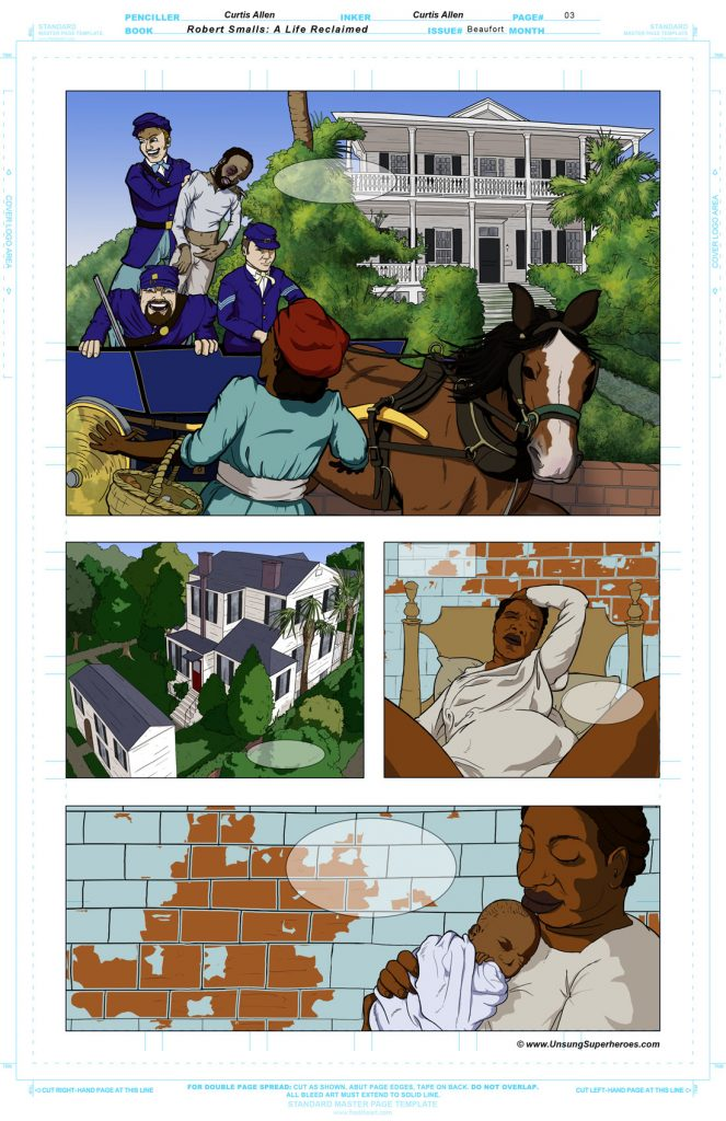 Robert Smalls Graphic Novel. Page 4 - Rendering