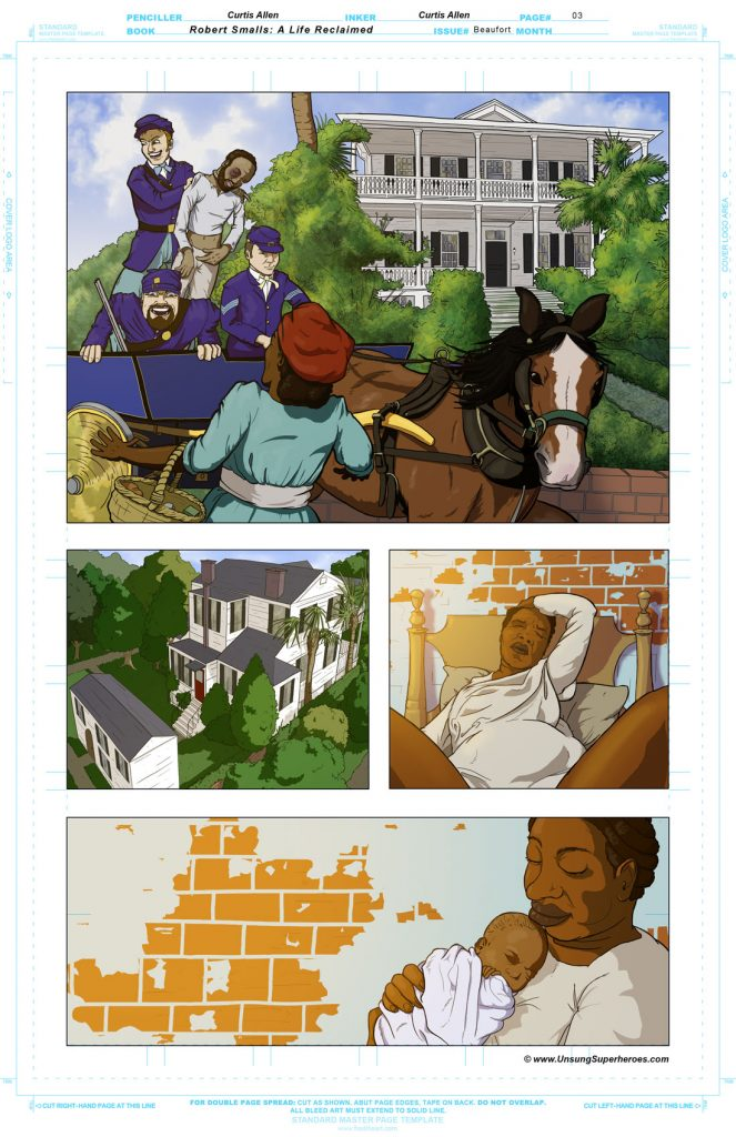 Robert Smalls Graphic Novel. Page 4 - Finsiehd Page to be LEttered