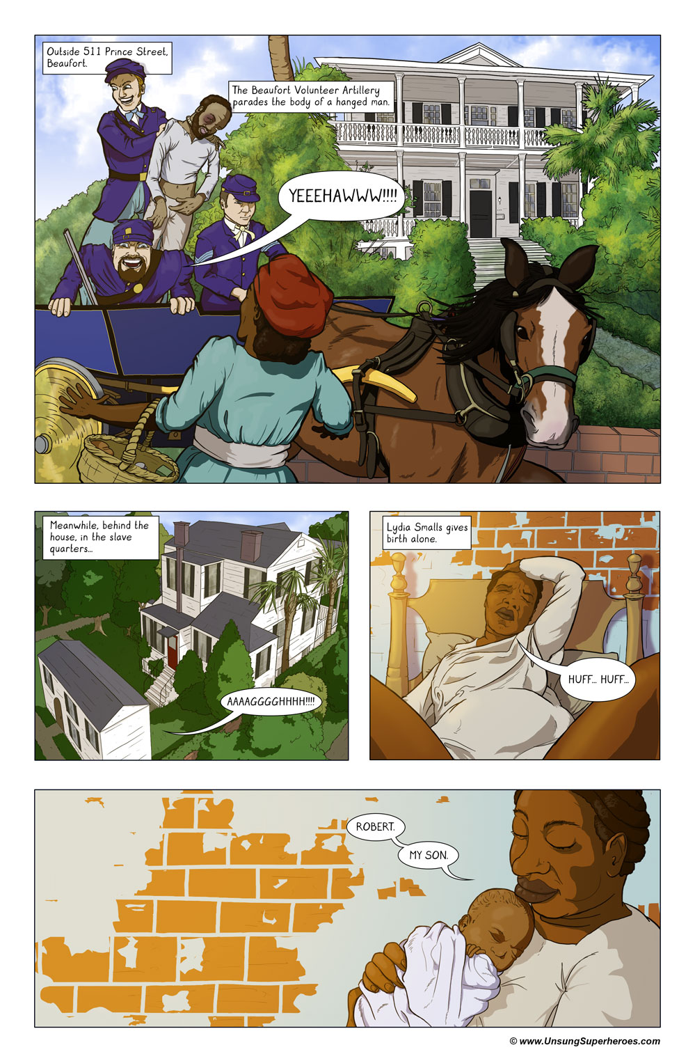 Robert Smalls Graphic Novel: Page 4