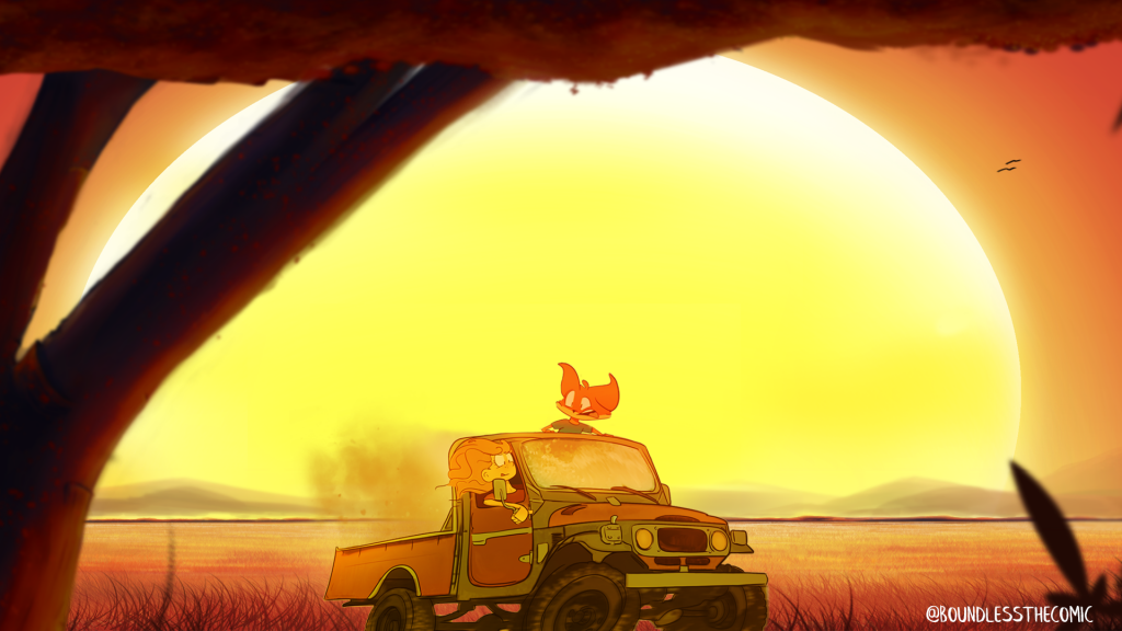 "An image from ""Boundless!"", a webcomic by Mike Salsbury"