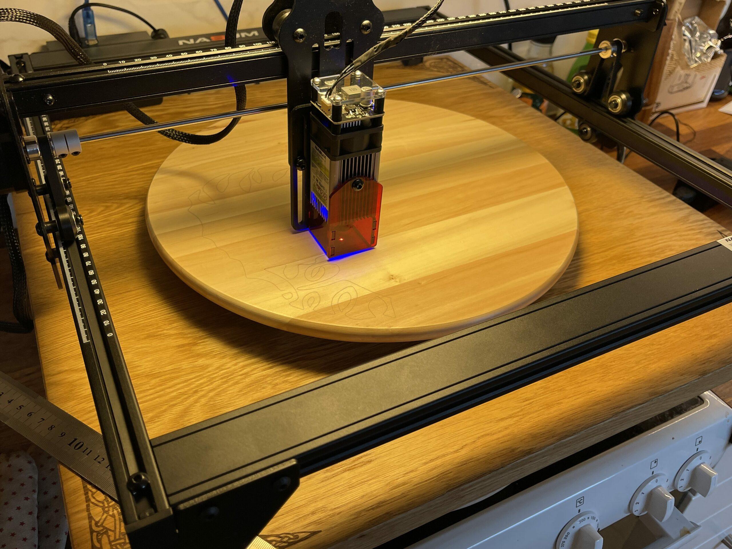 Första projektet med nya lasern!