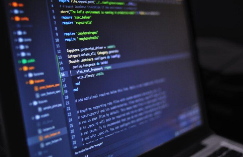 close up photo of programming of codes