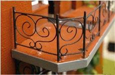Detalj av balkonräcket