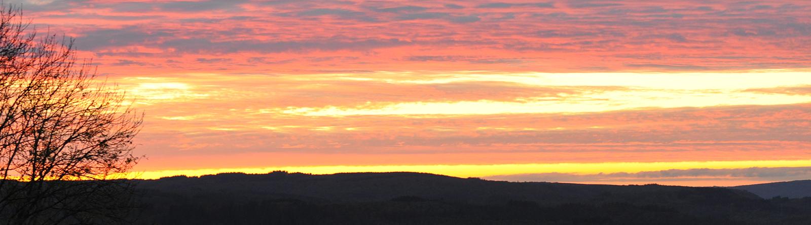 zonsondergang Rochehaut