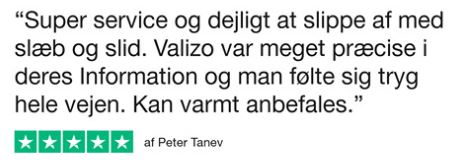 Trustpilot anmeldelse fra Peter Tanev