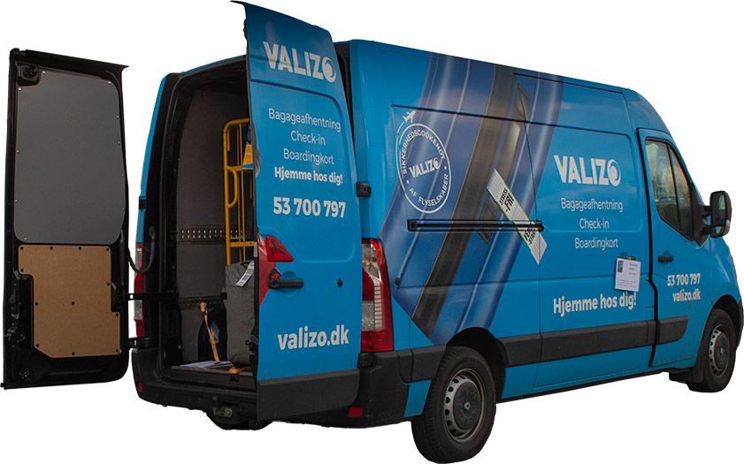 Billede af Valizos bil. Få din baggage transporteret sikkert med Valizo