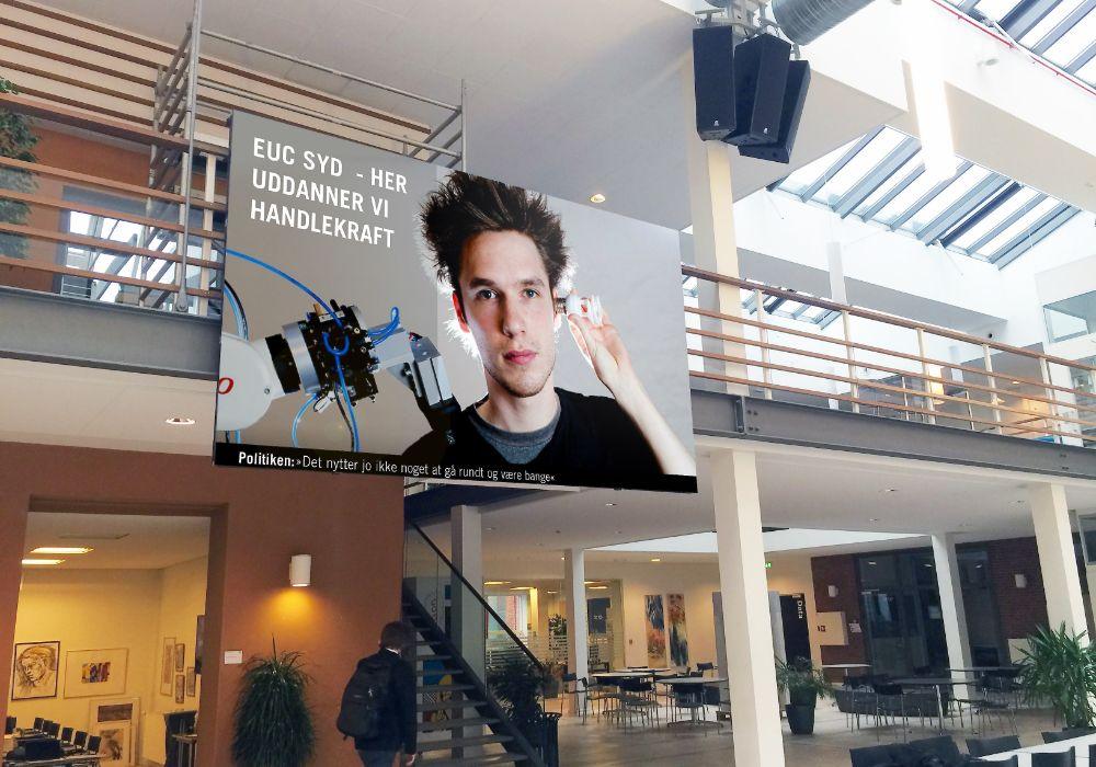 Indendørs LED videovæg med helt klar billedekvalitet
