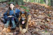 Lisa met langstokhaar herder Raoul