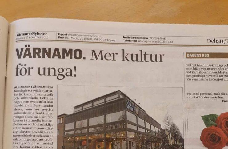 Insändare publicerade i Värnamo Nyheter