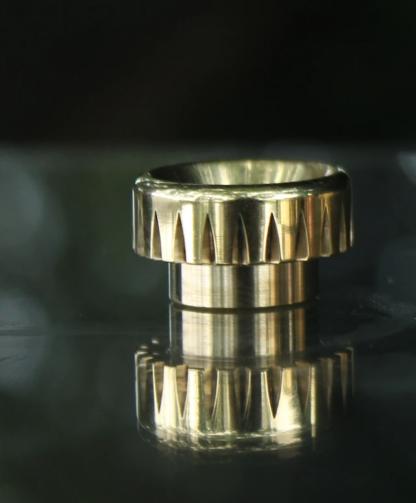 comp lyfe standard drip tip brass v groove