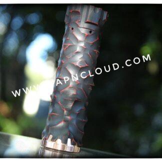 comp lyfe prototype 18650 black red distressed