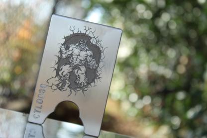 comp lyfe cltac wallet raw titanium hulk logo
