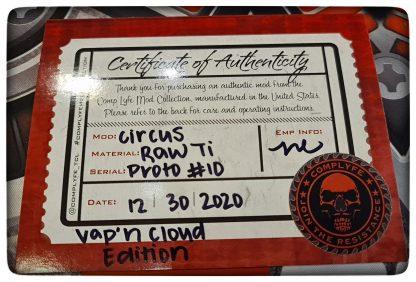 comp lyfe coa prototype circus 21700