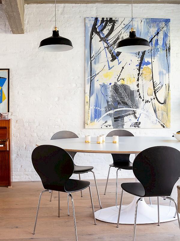 ovalen tafelblad