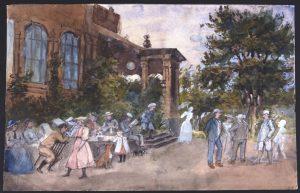 Montebello, verandan och familjen, ca 1890. Nordiska museet