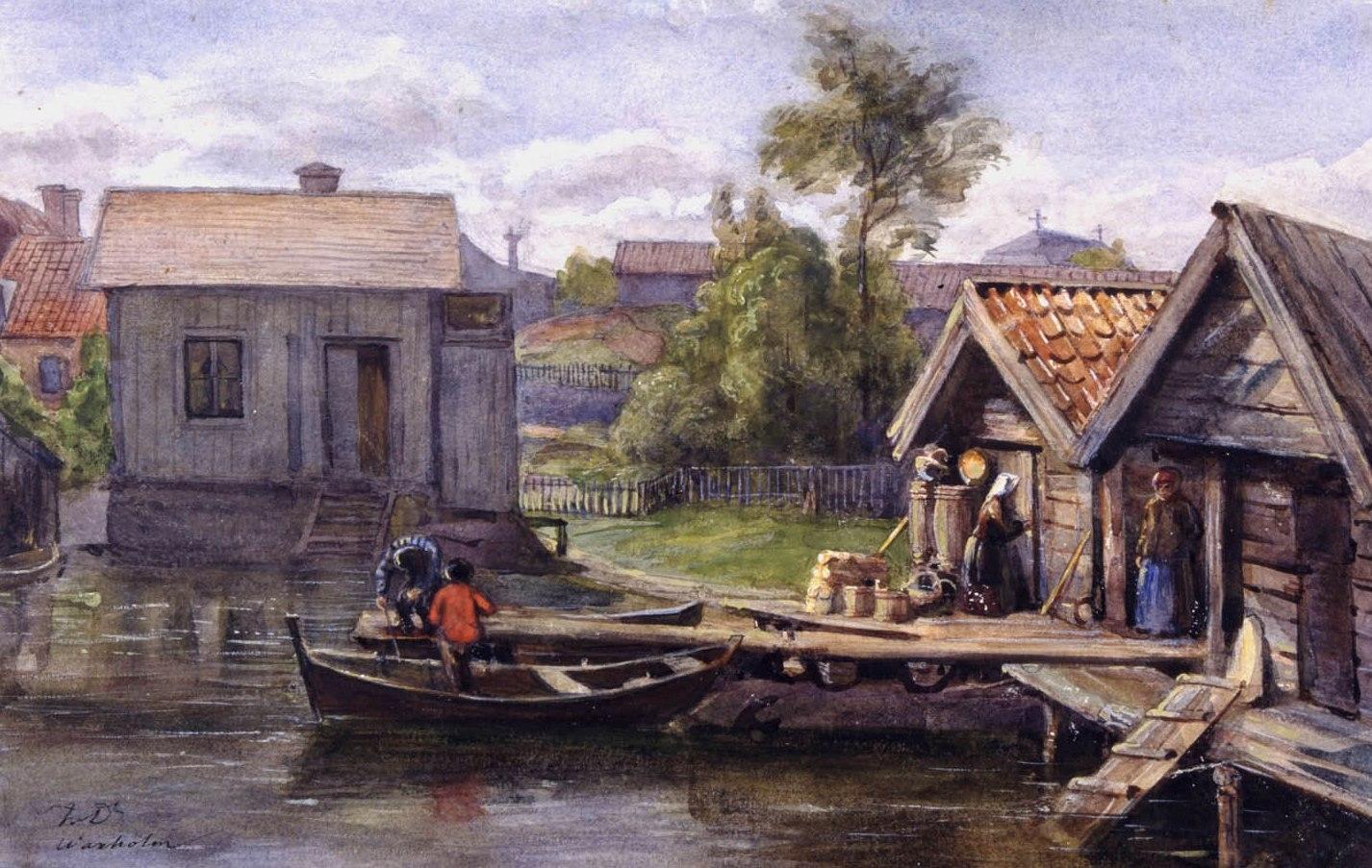 Fritz von Dardel: Motiv från Vaxholm (Nordiska museet)