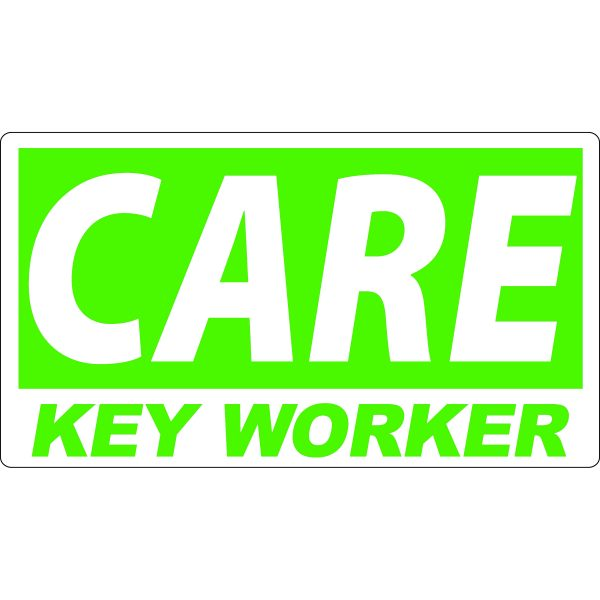 Key Worker Sticker for the Care Industry