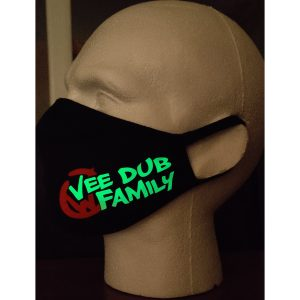 Glow in the Dark Vee Dub Family Face Mask