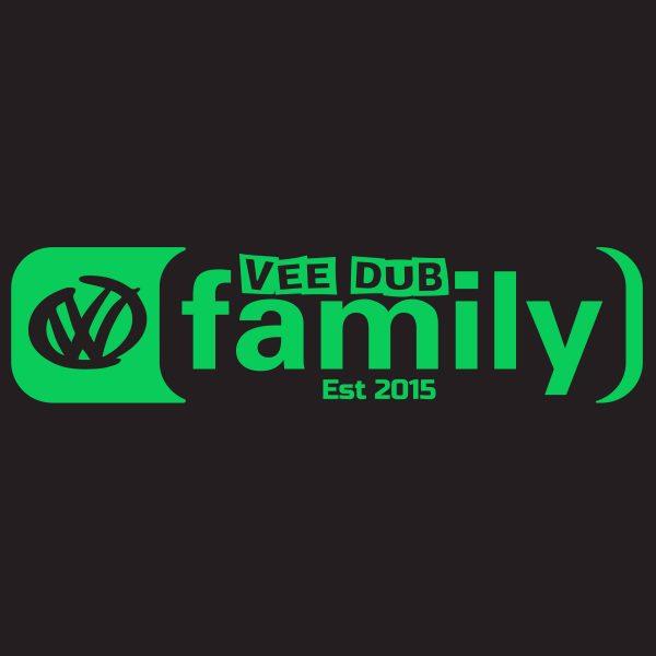 Limited Run Glow in the Dark Vee Dub Family Core Logo Sticker