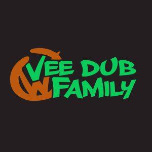 Limited Run Glow in the Dark Vee Dub Family Graffiti Sticker