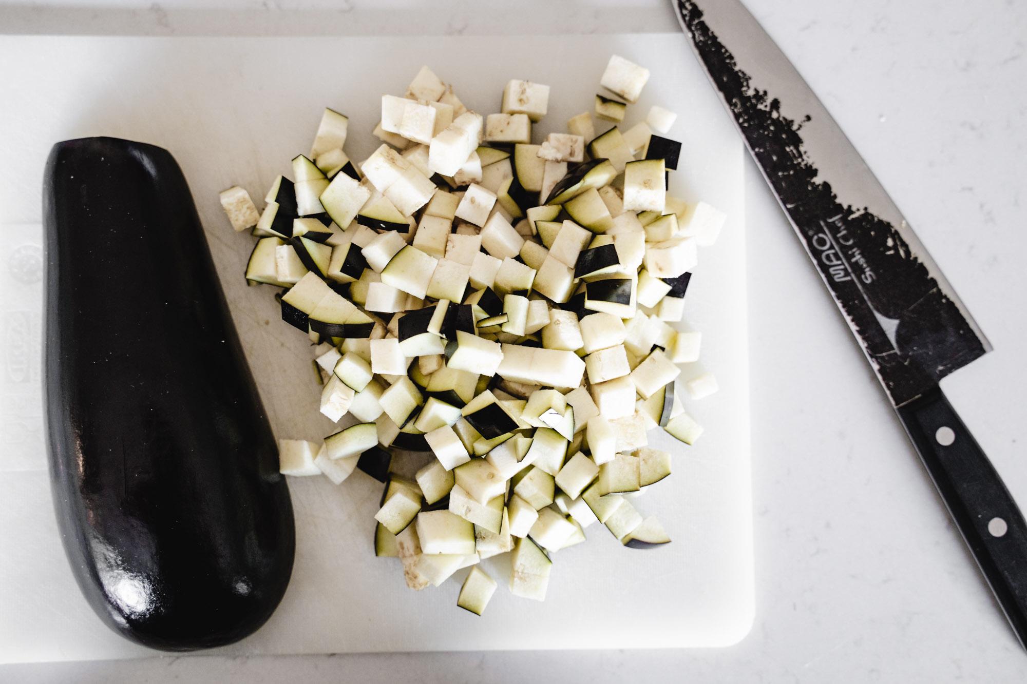 Aubergine - kefte