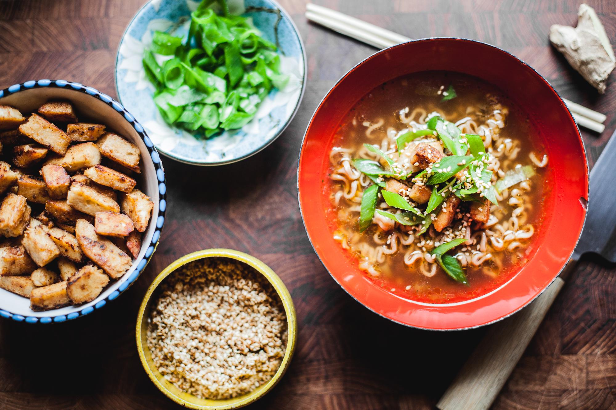Japansk ramen-suppe