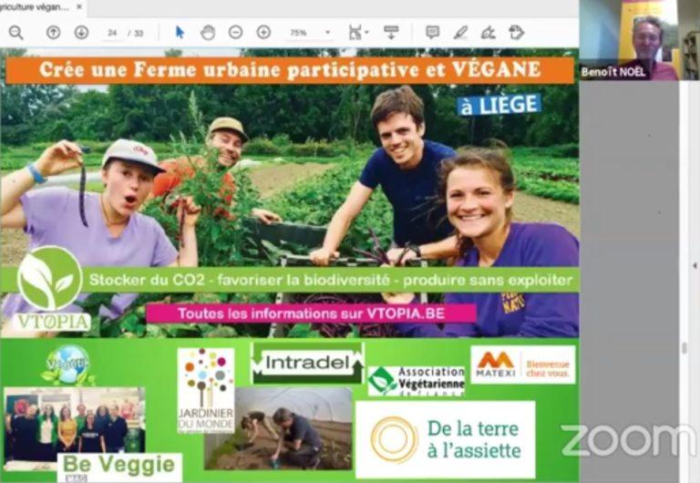 L'AVF reçoit Benoît Noël de Vtopia pour un exposé sur l'agriculture végane