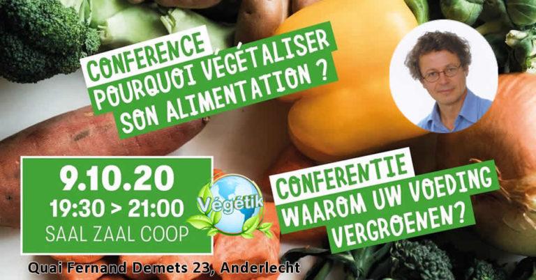Conférence: « Bien-être animal, bien-être humain : pourquoi végétaliser son alimentation »
