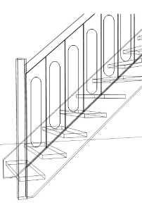 B21 Plankegelænder