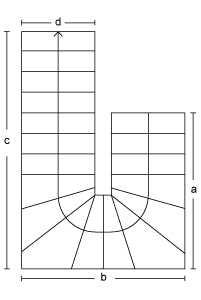 Halvsvingstrappe