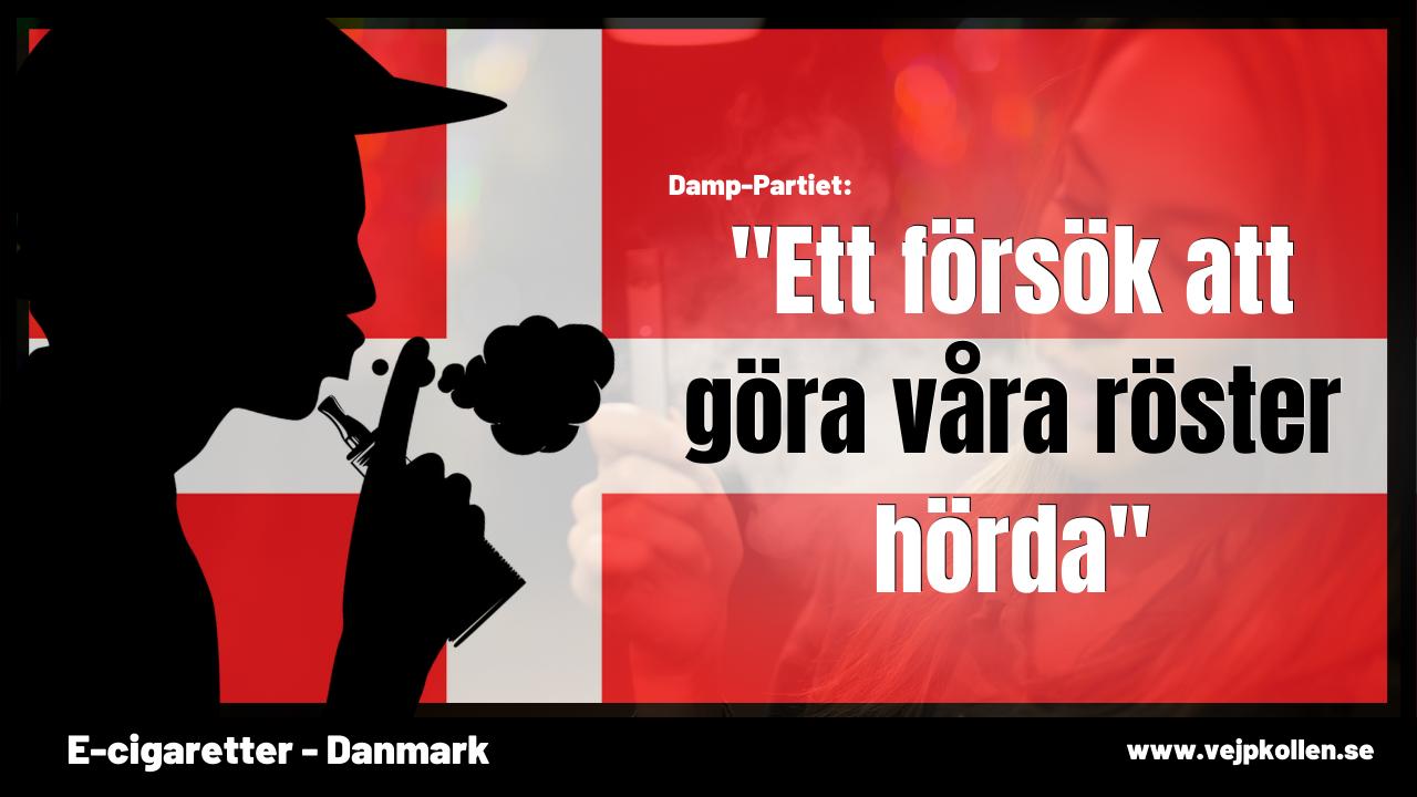 Danska vejpföreningen bildar politiskt parti för att påverka politiker som förbjuder smaker i e-juice.