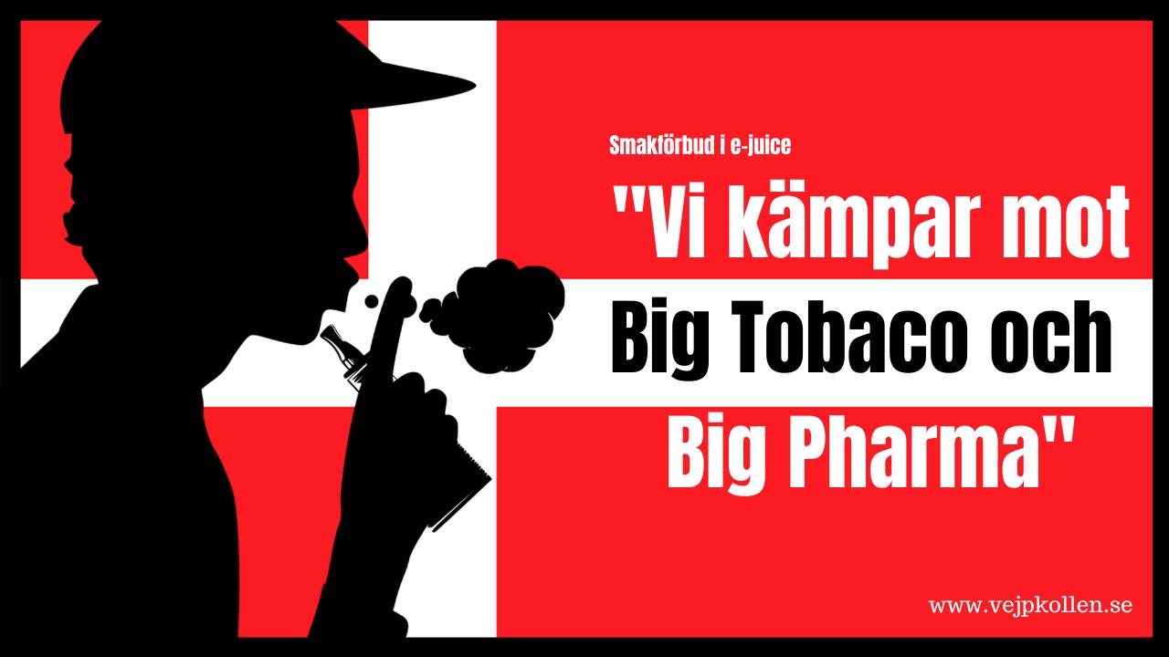 Danmark förbjuder smaker i e-vätska.