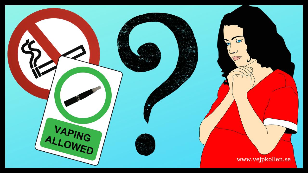 E-cigaretter verkar inte påverka forstert vid graviditet - visar ny studie