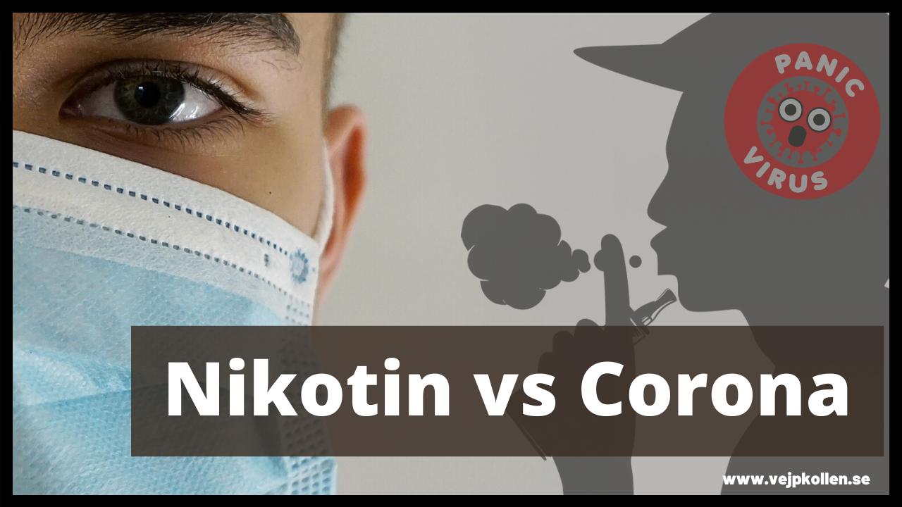 COVID-19 kan lindras av nikotin, misstänker forskare