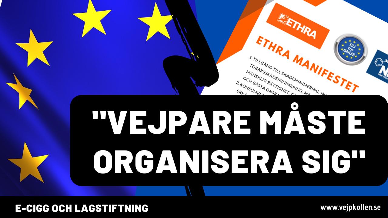 Lobbyorganisationen ETHRA kämpar för vejpares rättigheter i EU